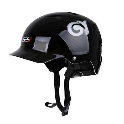 S/M/L Black Safety Helmet with Vents & Ear Cover for Water Sports Kayaking