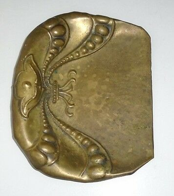 Attractive Antique Victorian Art Nouveau Brass Crumb Tray