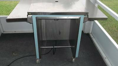 TWO STAINLESS STEEL CASHIER STAND Utility Cart Work table Delfield Colorpoint