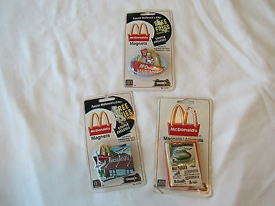 Collectible Mcdonalds Magnets - Set Of Three