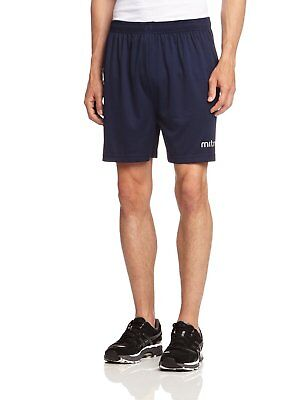 Mitre T50101 Metric Football Men's Shorts, Navy - M waist 32-34
