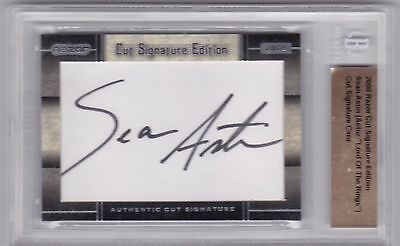 2008 Razor Cut Signature. Sean Austion Lord of the Rings. Autograph. Authentic
