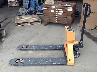Uline H-4564 Pallet Jack/Truck Scale with Printer 48 x 27 5000#/lb