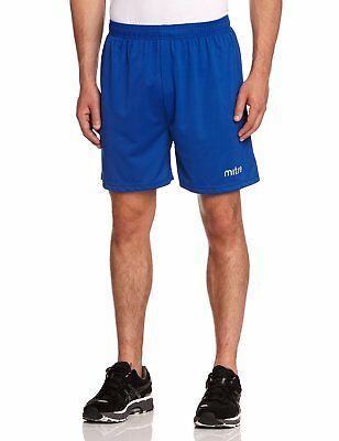 Mitre T50101 Metric Football Men's Shorts, Royal - S waist 30-32