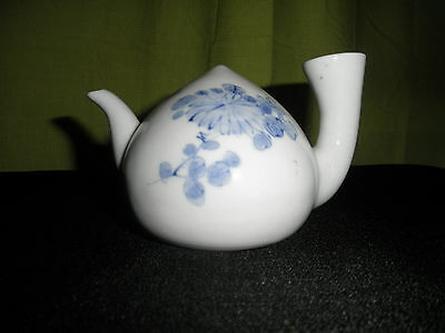 Japanese Hirado Blue And White Porcelain Water Dropper