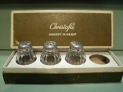 3 Christofle Argent Massif Shakers In Box