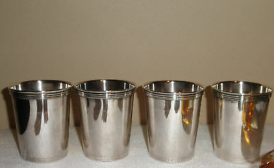 4 Vintage Patrick Henry Silverplate Mint Julep Cups Made in Spain, very nice