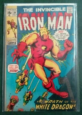 Marvel Ironman #39 Silver Age Grade 5.0  1St Appearance White Dragon