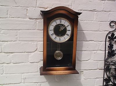 Seiko Beautiful Wall Clock  Quartz (Wooden) Gongs The Hour And Half