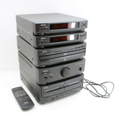 Akai Stereoanlage AX 650, CD 650, Tuner TP 650, Tape Deck, Graphic Equalizer