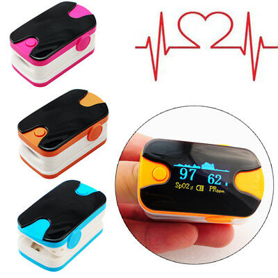 OLED Finger Fingertip Blood Oxygen Meter Pulse Heart Rate Monitor Oximeter SPO2