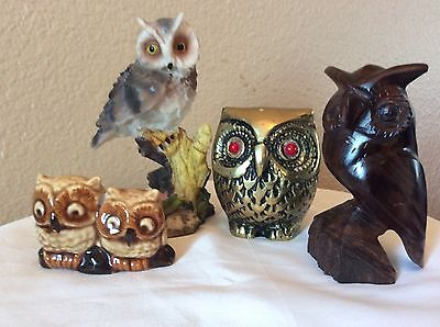 Collection of Owl Figurines-Lot of 4!