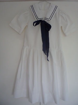 Vintage Laura Ashley girl's sailor style dress