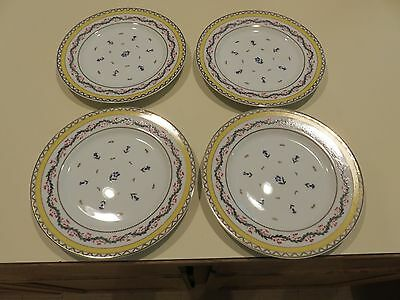 Set 4 Mount Vernon Ribbons & Cornflowers Pattern by Andrea by Sadek Salad Plates