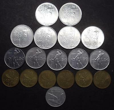 Lot Vintage Coins Country Italy 1956-1977