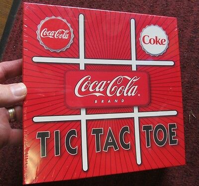 Coca-Cola / COKE Brand Tic Tac Toe  Bottle Cap Game ~ 2004 Board Game  NIB