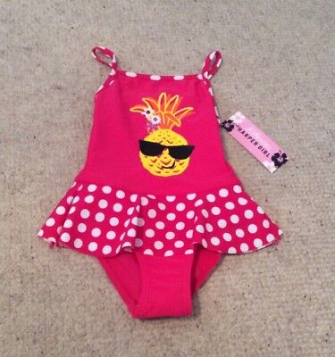Baby Girls Pineapple Print Swimming Costume 12-18 Mths BNWT