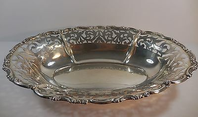 Antique Continental 800 Silver Reticulated Bowl with Hallmarks 395 grams