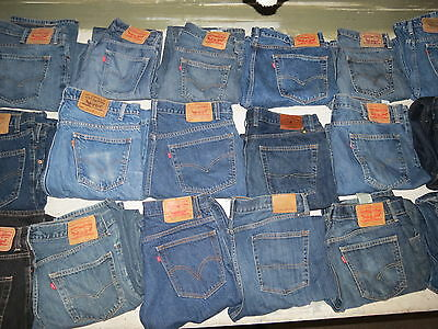 Lot Of 18 Pairs Of Mens Jeans Levis Lucky Brand  514 550 505 569 Blue Black