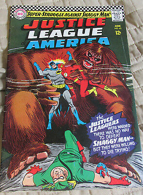 Justice League Of America #45 1St Shaggy Man Appearance Very Good+