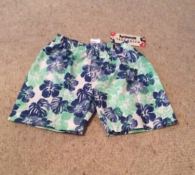 Baby Boys Hibiscus Print Swimming Shorts 18-23 Mths BNWT