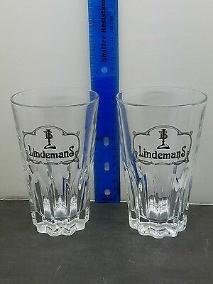 Lindemans Glass lot of 2 Belgium Brewery Starburst Glasses
