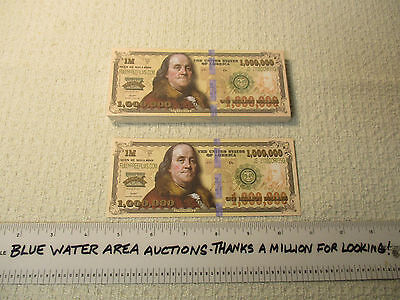 Package Pack (100) One Million Dollar Bill Gospel Tracts, $1,000,000, Best Tract