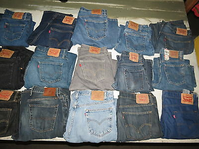 Lot Of 18 Pairs Of Mens Jeans Levis Lucky Brand  514 550 505 501 Blue Black