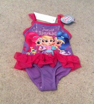 Girls Nickelodeon Shimmer & Shine Swimming Costume 18-24 Mths BNWT