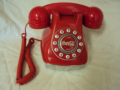 Collectible  Push Button Coca Cola Red Corded Desk Phone Hasn't Been Tested.