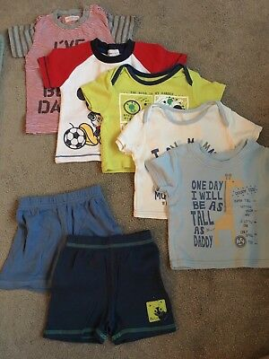 Baby Boys 0-3 Months Summer Bundle T-shirts And Shorts