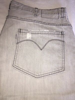 Men's Gray Silver Tab Levi's Size 38/30 True Boot Cut Denim Jeans