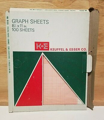 Keuffel & Esser Graph Tracing Paper 8.5x11 #46 5133 85 sheets logarithmic red