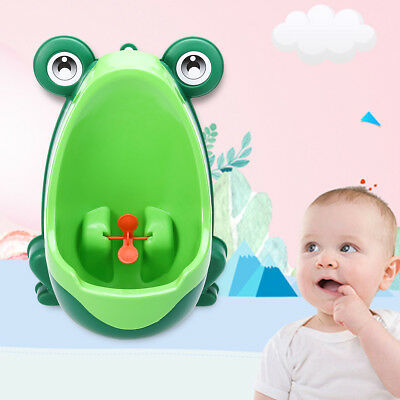 Training Kids Urinal Toilet Frog Children Potty Baby Boy Standing Pee Trainer