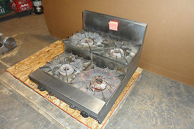 """D Stainless Steel Commercial """"vulcan"""" Counter Top N-Gas 4 Burner  Step Stove"""