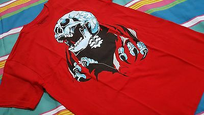 NSS Authentic Tattoo design Men T-shirt Size S Red Collectible NEW