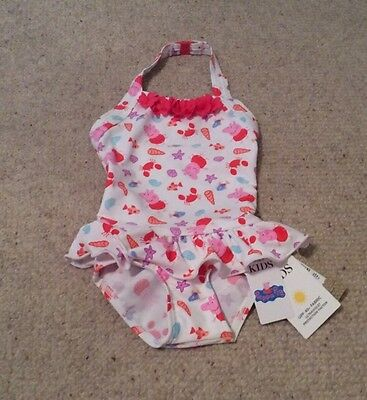 Girls M&S Peppa Pig UPF 40+ Swimming Costume 3-6 Mths BNWT
