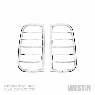Westin Automotive 39-3420 Stainless Steel Tail Light Guards (Pair) - Chrome