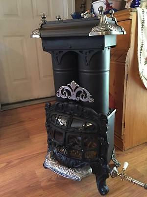 Antique Parlor Stove Gas Propane Monarch Window To View Fire