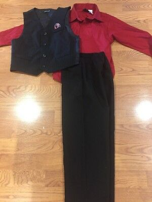 Boys Size 8 Vest Shirt And Pants