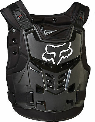 Fox MX Proframe LC Black Adult Chest Protector/Roost Guard/Deflector MX ATV BMX