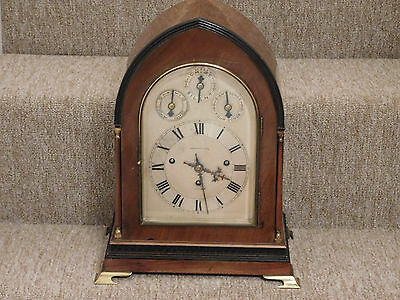 Antique Triple Fusee Musical Bracket Clock By Chancellor, Dublin  Of Small Size