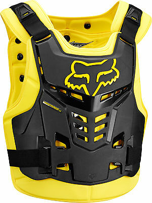 Fox MX Proframe LC Yellow Black Adult Chest Protector/Roost Guard/Deflector ATV