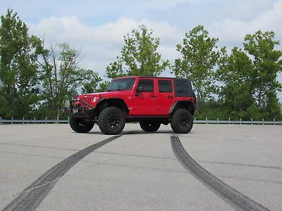 2009 Jeep Wrangler Rubicon 2009 Jeep Rubicon Wrangler Unlimited Lifted Freedom Top Auto Cold AC Sweet Rig.
