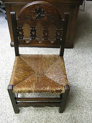 Vintage Hand Carved Very Old Chair Antique