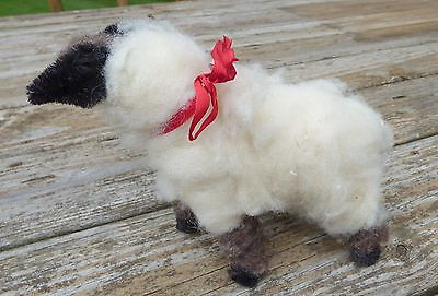"PRIMITIVE DECOR 6"" Sheep - Wooly Plush  COUNTRY  FOLK ART PRIM"