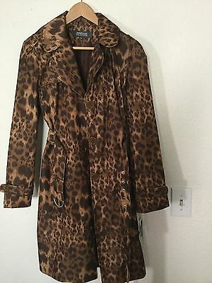 KENNETH COLE REACTION Trench Coat Jacket Women's Sz L Belted NWT