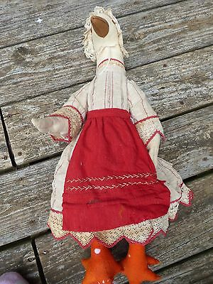 "White Goose 20"" Tall Primitive Rag Doll Plush Country Duck Rustic Cute"