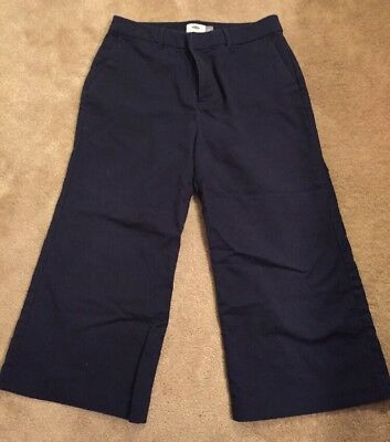 Women's Size 8 Navy Blue Old Navy Wide Leg Chinos