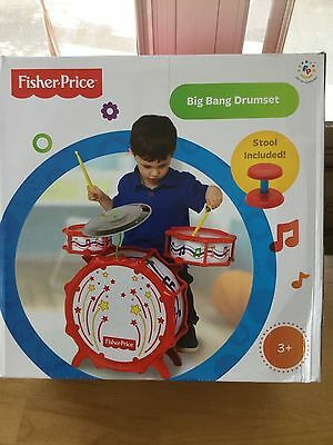 Fisher Price Music Big Bang Drumset with Lights - New / Sealed